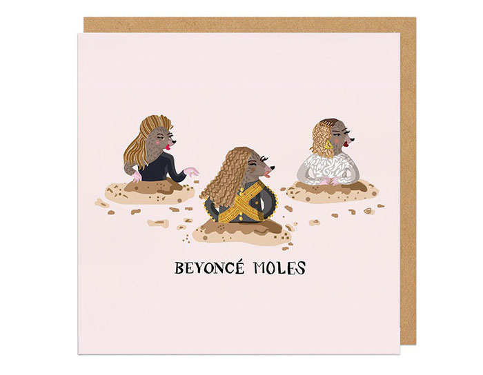 8 punny greeting cards with celebrities as animals bored panda 6 beyonce moles m4hsunfo
