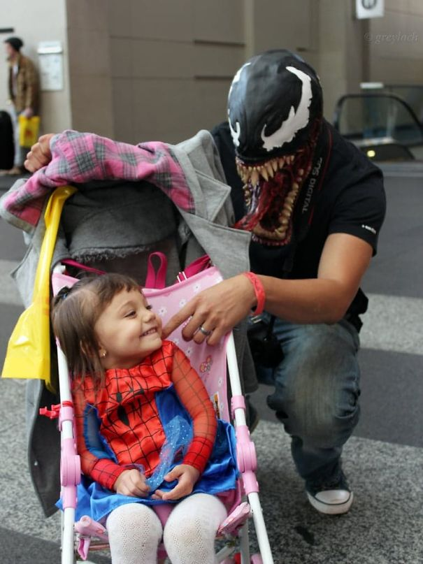 Little Spiderman And Venom