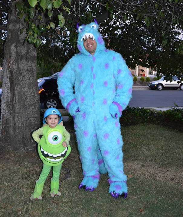 Daughter Loves Mike Wazowski And Had No Idea I Was Dressing Up With Her This Year
