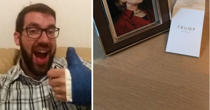 Guy Requests Framed Clinton Photo At Trump Hotel And Doesn't Specify Which One, Staff Delivers