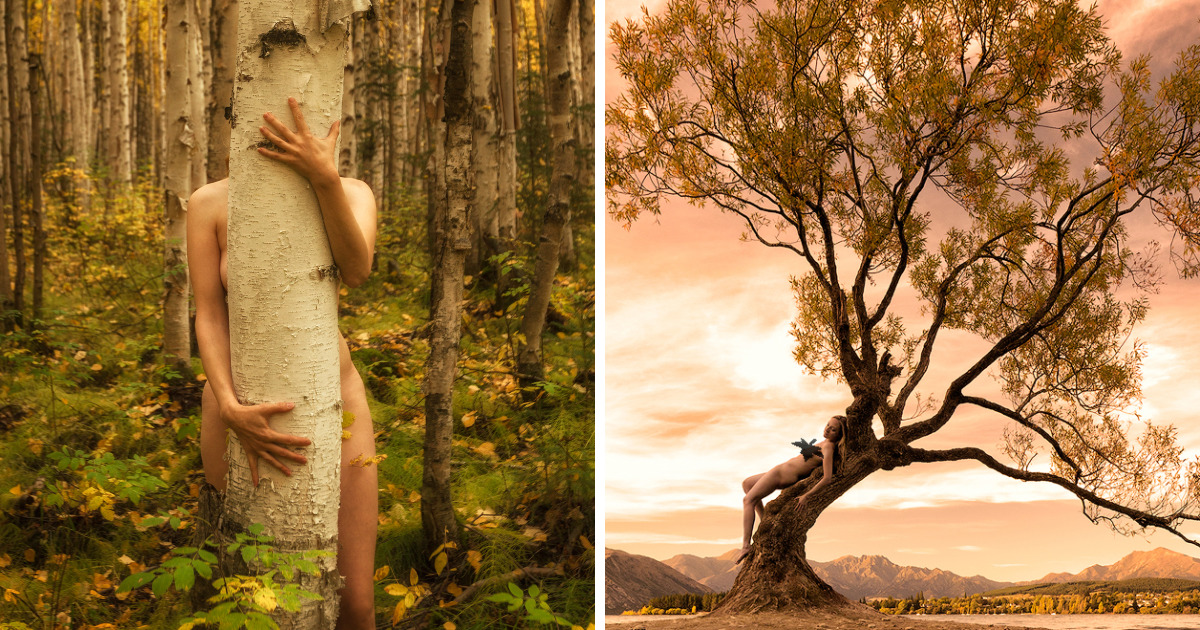 I Photograph Myself Naked With Trees To Show That We Are Nature