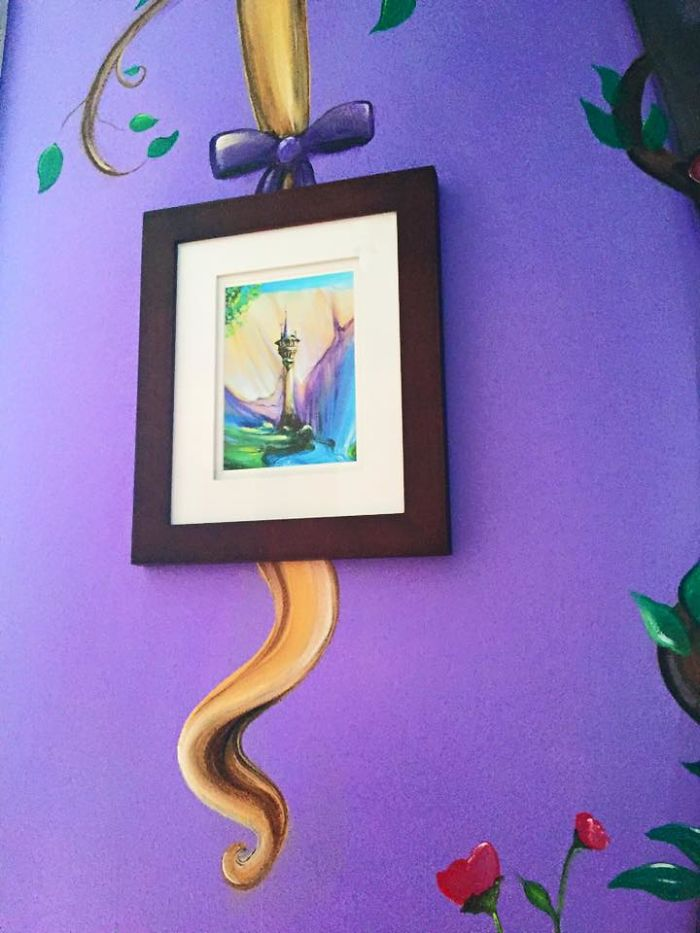 Gorgeous Tangled Themed Guest Rooms At Tokyo Disneyland: I Painted A Disney 'Tangled' Mural In My Daughter's Room