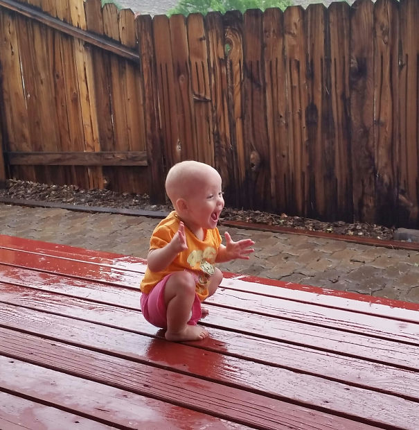 My Daughter Playing In/Seeing Rain For The First Time