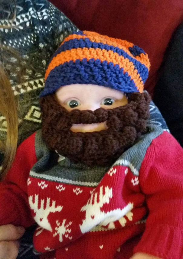 Baby Cousin's Beard Is Coming In Nicely!