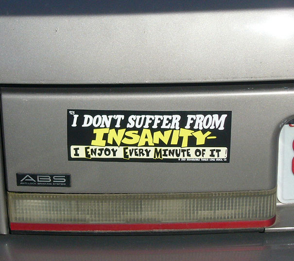 This Bumper Sticker Made Me Smile