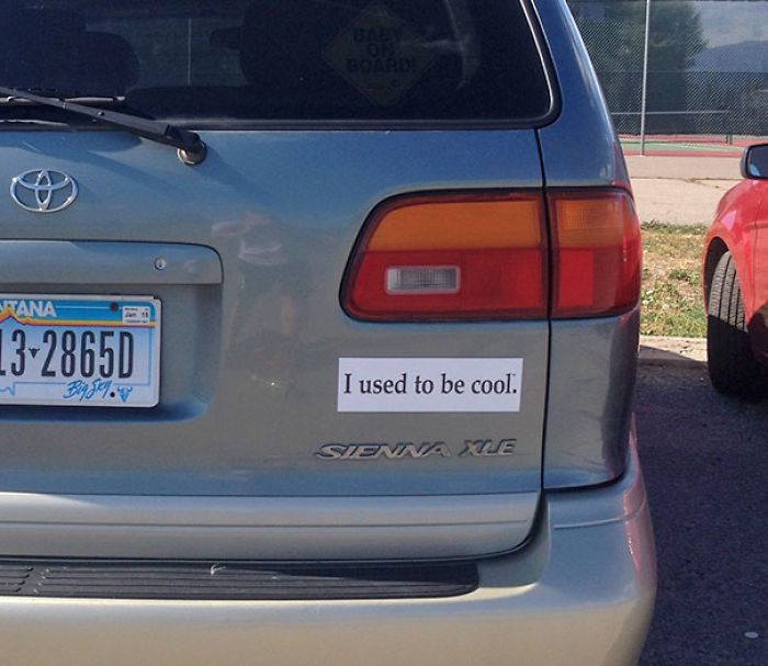 The Only Bumper Sticker You Should Put On A Mini-van