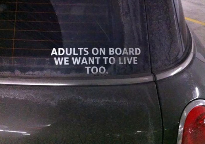 Bumper Sticker For Adults