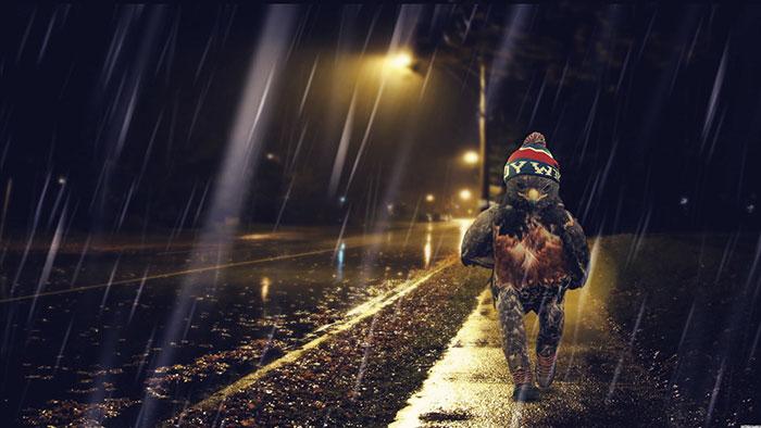 The Wet Walk Home