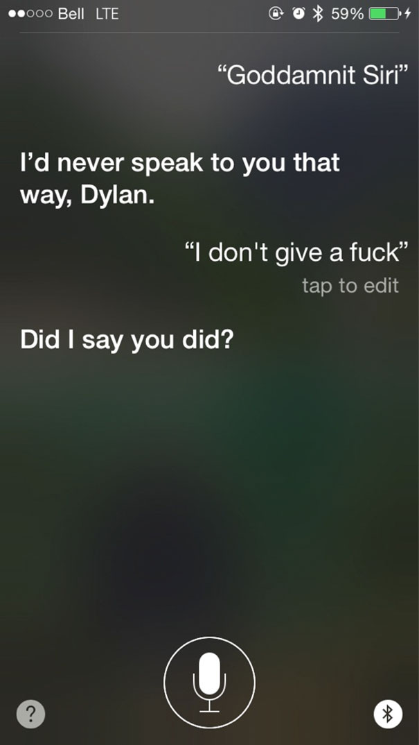 Today I Learned Siri Is Quite Sarcastic