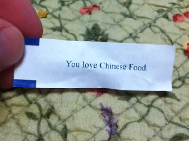 My Fortune Cookie Being A Smart Ass Today
