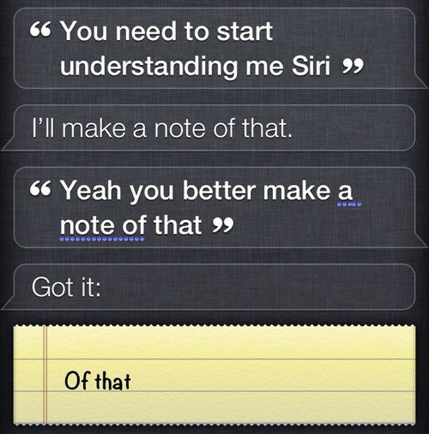 Siri's Being A Sarcastic B*@%ch