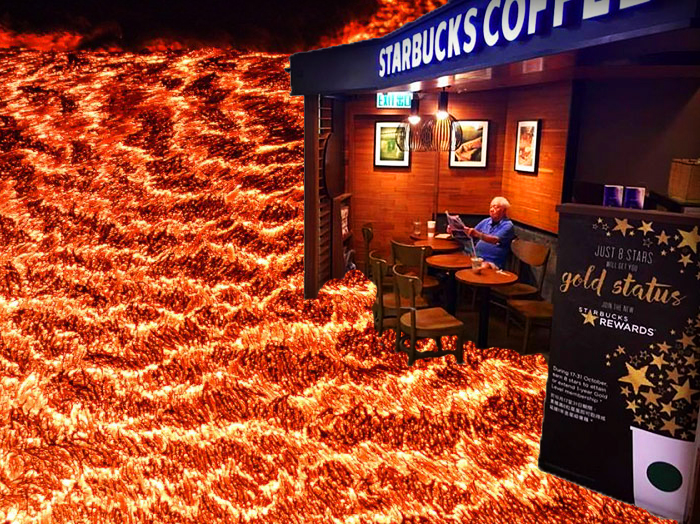 This Starbucks Is Fire!!
