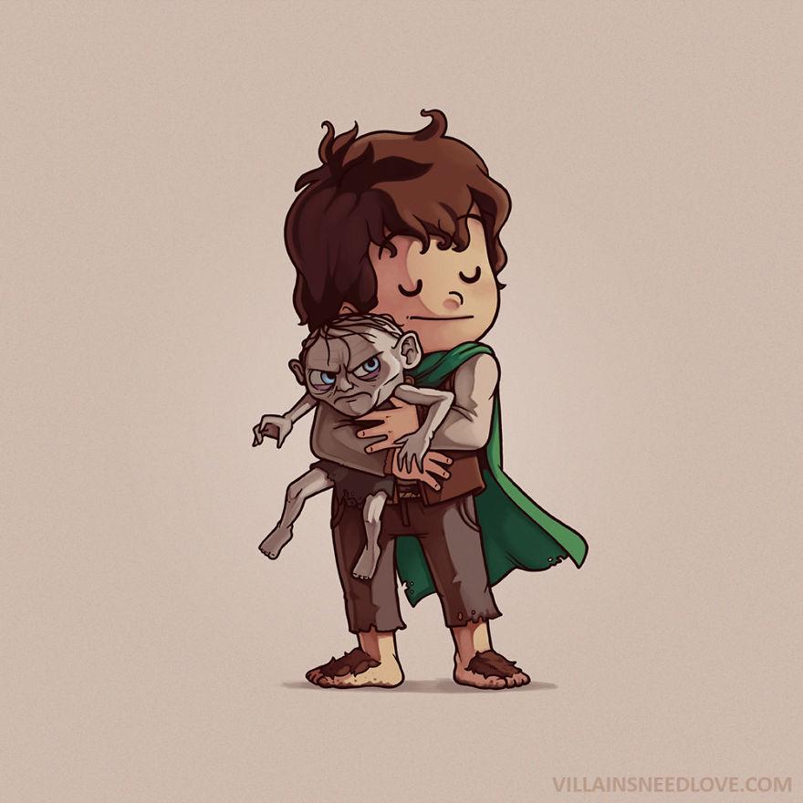 Gollum & Frodo