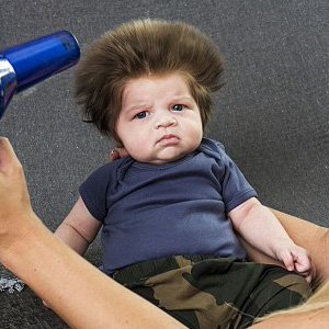 Meet 2-Month-Old Baby With The Craziest Bouffant Hair Ever