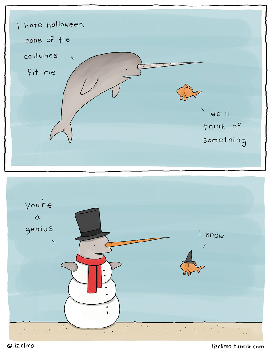 Funny Narwhal Cartoon Simpsons Illustrator S...