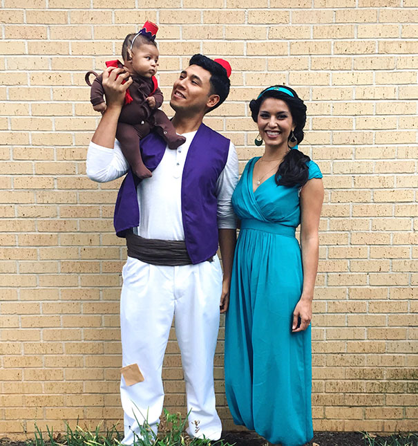 Aladdin Jasmine And Abu  sc 1 st  Bored Panda : best costume for baby girl  - Germanpascual.Com