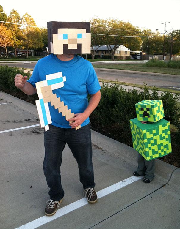 Minecraft Miner And Creeper Costume