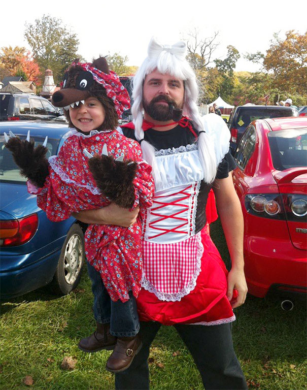 7 red riding hood and wolf costume