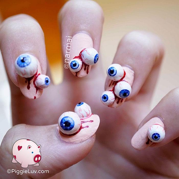 Creepy halloween nail art ideas by piggieluv veriy halloween nail art prinsesfo Gallery