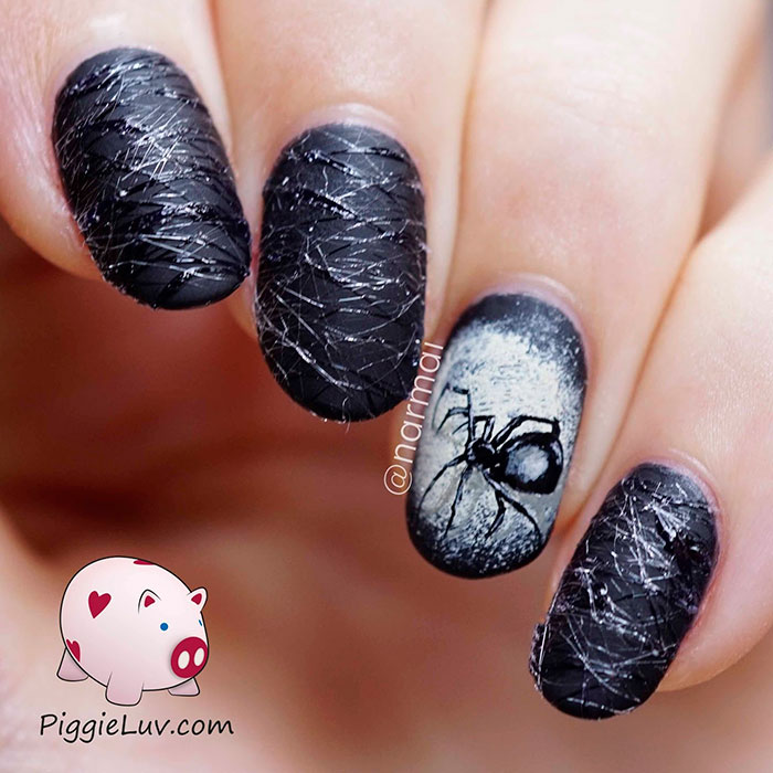 Halloween Nail Art - Creepy Halloween Nail Art Ideas By PiggieLuv Bored Panda