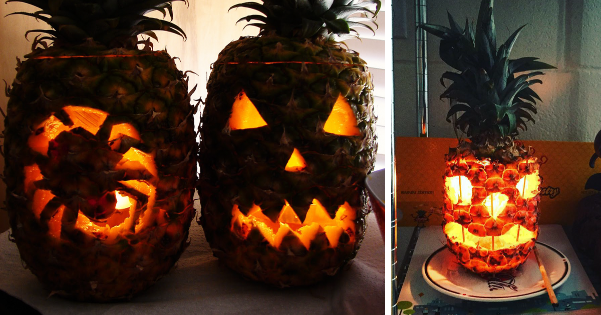 People Are Carving Pineapples For This Halloween And They