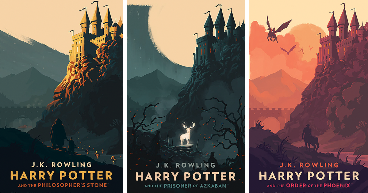 Harry Potter Book Facebook Cover ~ Magical vintage harry potter book covers by olly moss