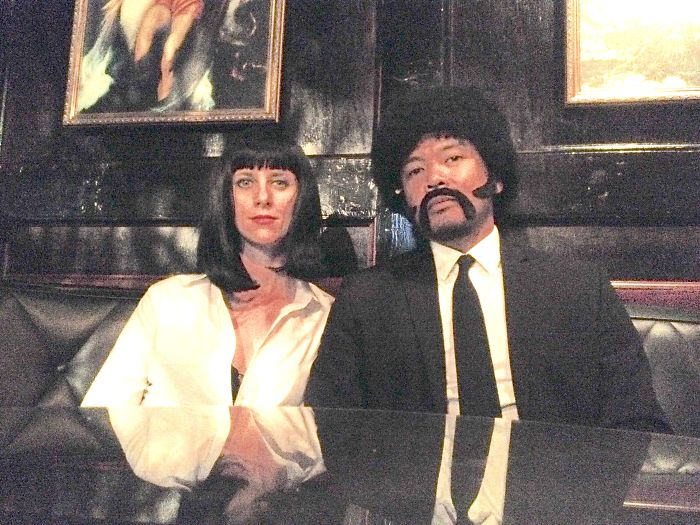 My Wife & I Went As Mia Wallace & Jules Winnfield From Pulp Fiction