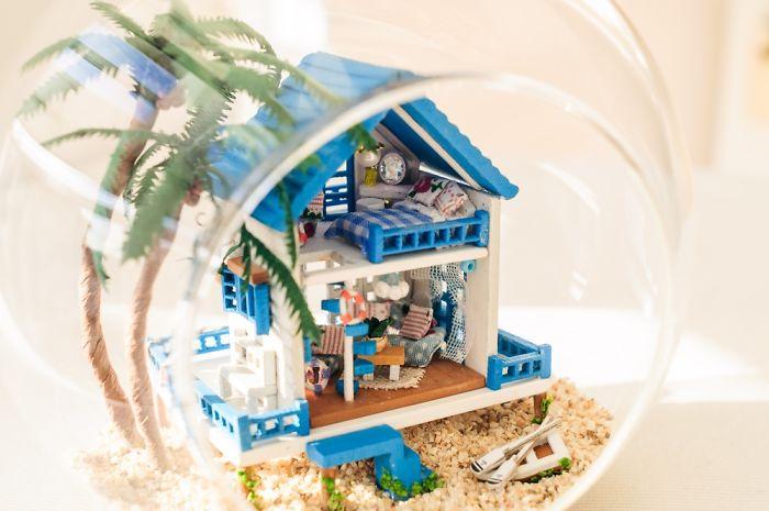 Romantic Aegean Dream House In Glass Ball Diy