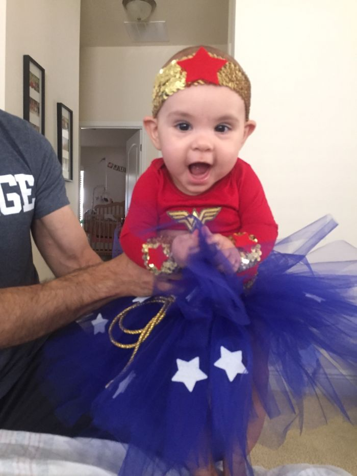 Made My Daughters First Halloween Costume. Wonder Woman!