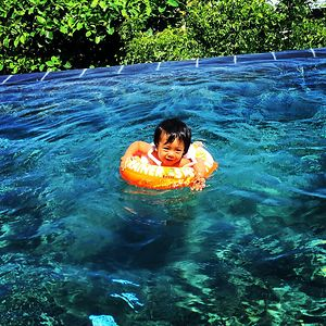 My Baby Brandon Swimming For The Very First Time, Yeah, He Went Crazy!