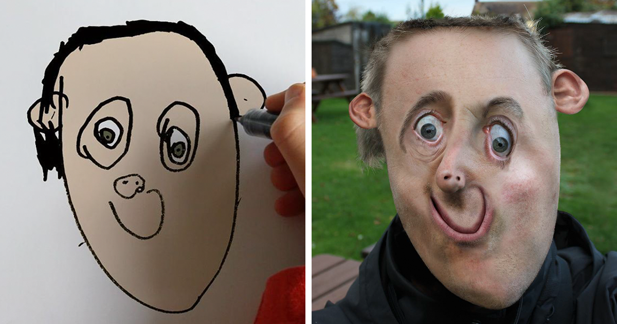 dad turns his 6 year old son s drawings into reality and the results are both creepy and hilarious 10 pics bored panda