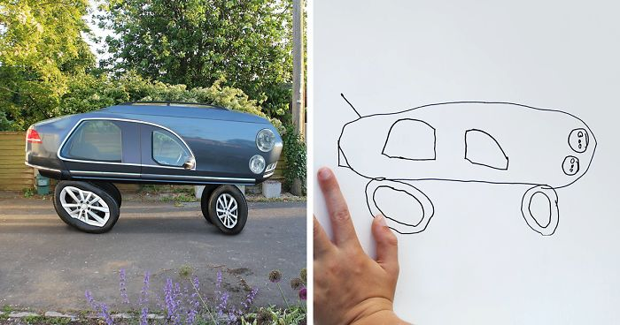 Dad Turns His 6 Year Old Son S Drawings Into Reality And