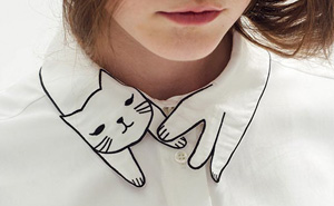 This Shirt's Collar Is Purrfect For Crazy Cat Ladies