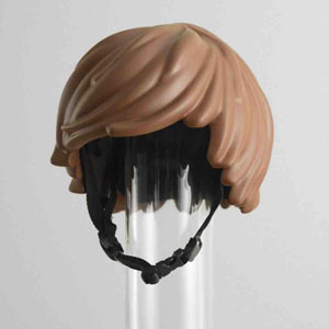 Someone Made A Real-Life LEGO Hair Bike Helmet That Turns You Into A LEGO Figure