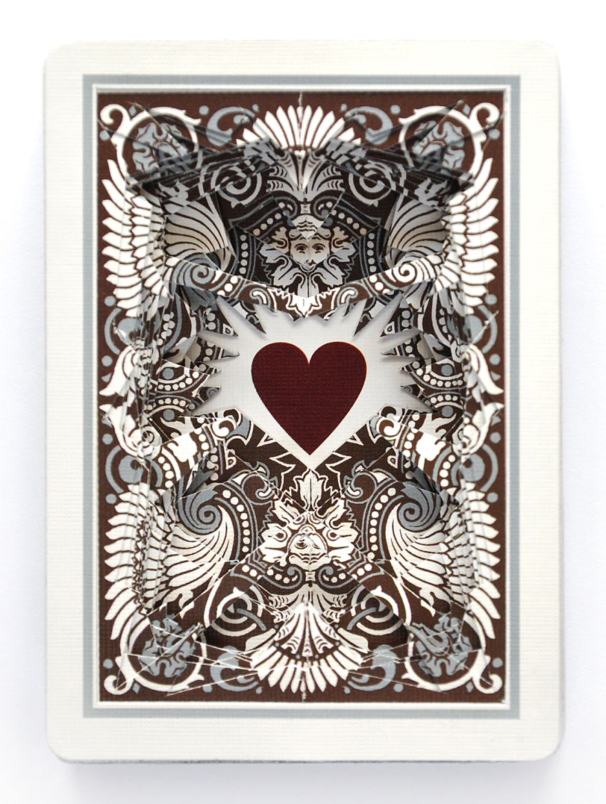 Lonely Hearts Altered Playing Card Decks… Cut Straight Through To The Heart