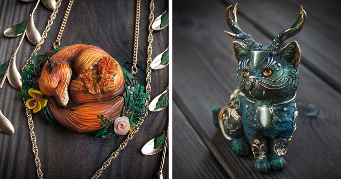Mythical Animal Jewelry That I Make Using Various Minerals