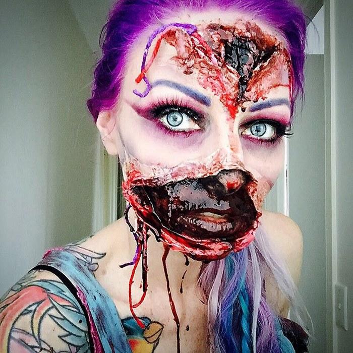 Creepy Makeup Art