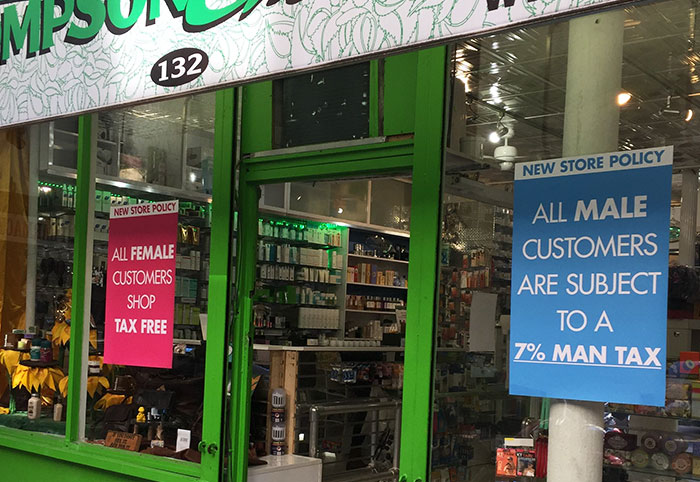"""NYC Pharmacy Charges 7% """"Man Tax"""" To Send A Powerful Message"""
