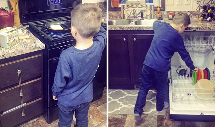 Mom Teaches Her Son That Chores Aren't 'Just For Women', Gets Criticized Online