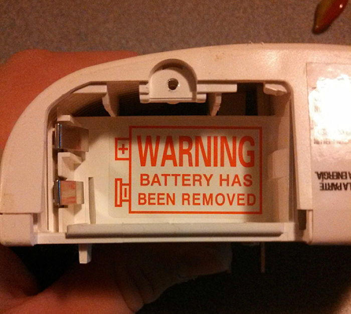 Well This Is Kind Of A Useless Warning Label
