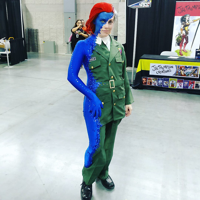 """This Mystique Costume At Comic Con Completely """"Blue"""" Everyone Away"""