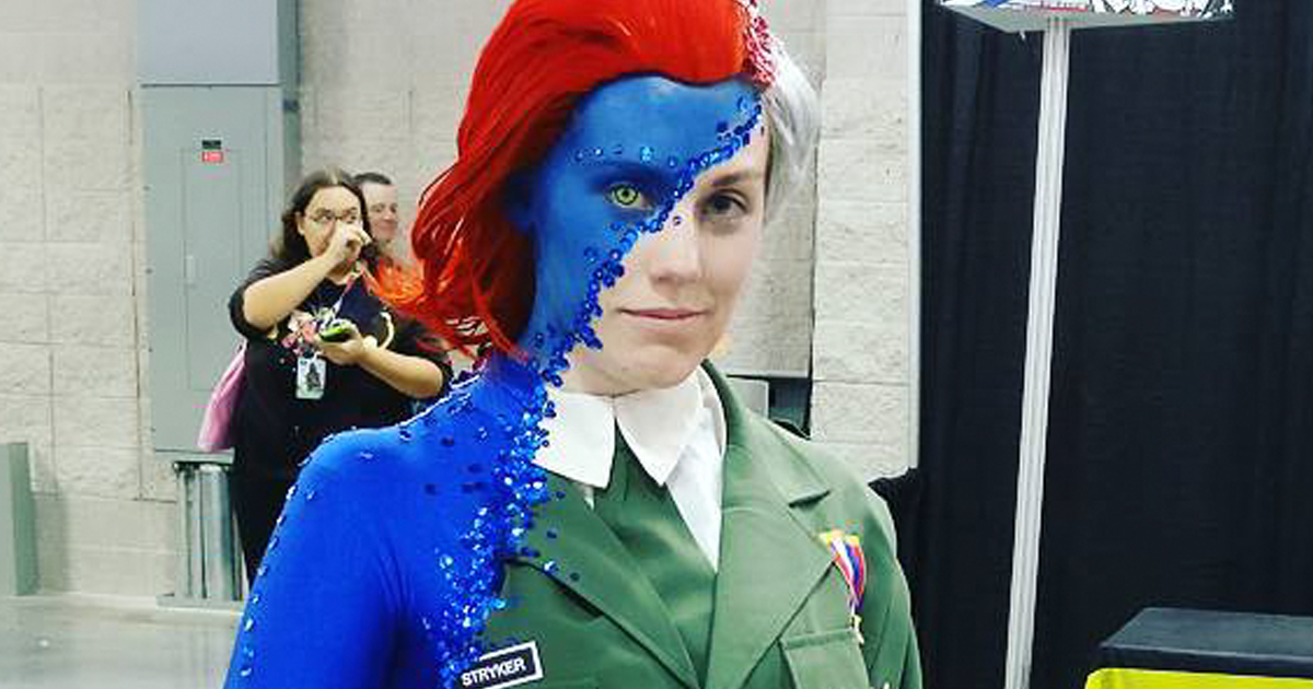 "This Mystique Costume At Comic Con Completely ""Blue"" Everyone Away"
