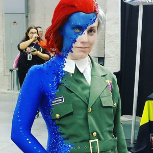 This Mystique Costume At Comic Con Completely