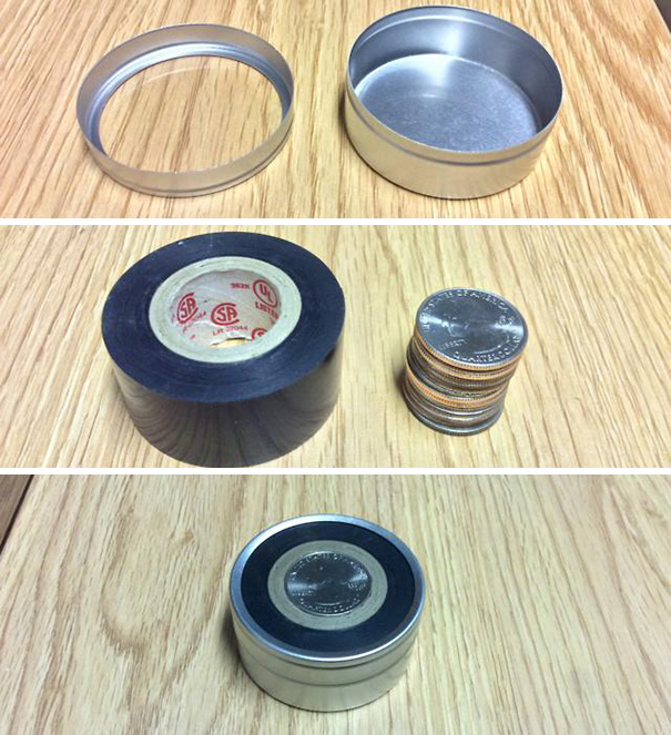 Coins In Tape In Tin