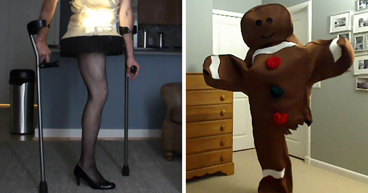 Every Halloween This One Legged Guy Makes An Epic
