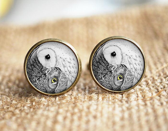 Owl Cuff Links