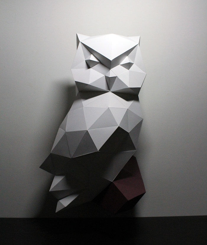 Owl Paper Taxidermy