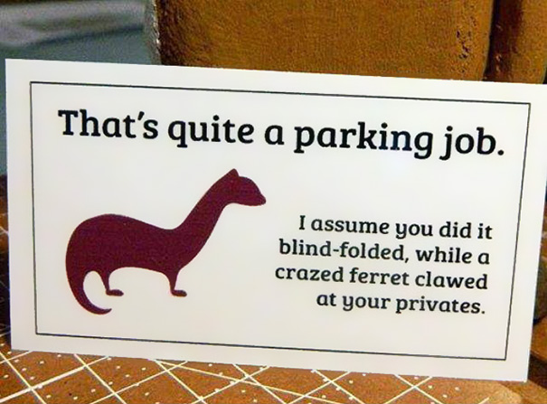 Passive-aggressive Parking Notes