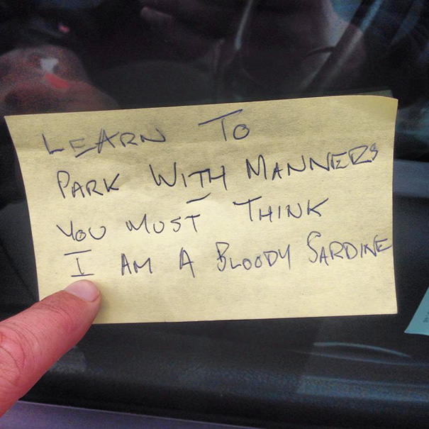 37 Of The Best Notes Left For Asshole Drivers Who Don T Know How To