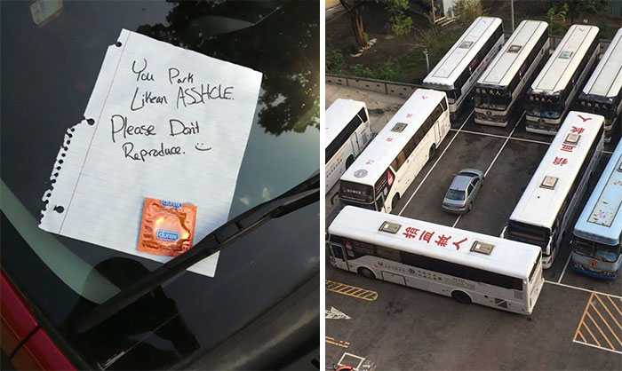 37 Of The Best Notes Left For Asshole Drivers Who Don't Know How To Park